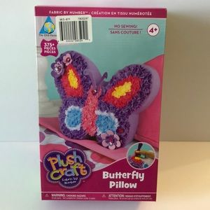 Other - Plush Craft Butterfly Pillow